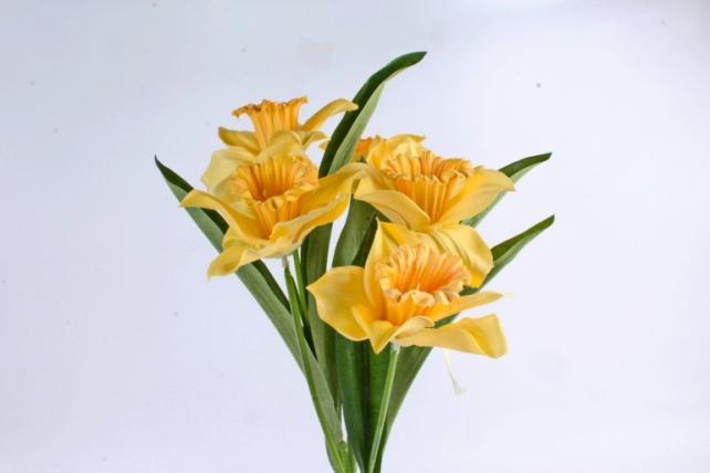 Искусственное растение -  Нарцисс гигант   жёлтый