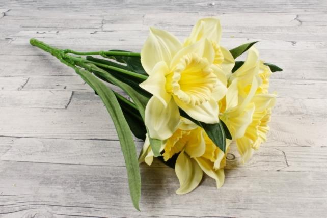Искусственное растение -  Нарцисс гигант   лимонный