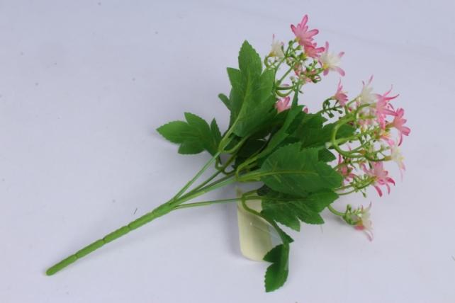 искусственное растение - ночная фиалка бело-розовая h=30cm