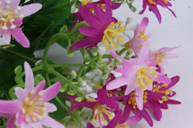искусственное растение - ночная фиалка фуксия h=30cm