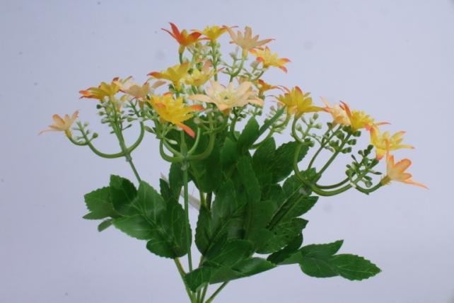 искусственное растение - ночная фиалка оранжево-жёлтая h=30cm