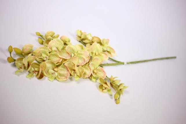 Искусственное растение - Орхидея 45см горчичная  SUN230