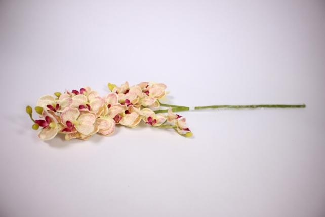 Искусственное растение - Орхидея 45см персиковая  SUN230