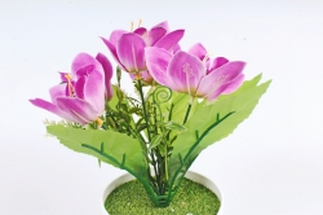 Искусственное растение -  Орхидея в розетке сиреневая Б10713