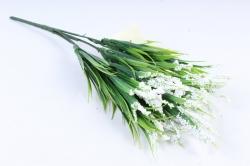 Искусственное растение -  Осока яркая белая  Б10376