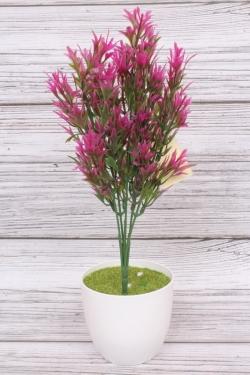 Искусственное растение -  Папоротник  скальный фуксия. 34 см.
