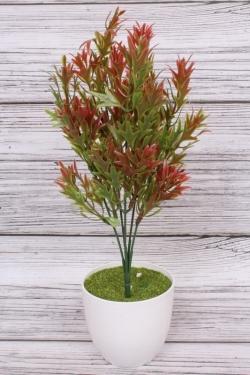 Искусственное растение -  Папоротник  скальный терракотовый. 34 см.