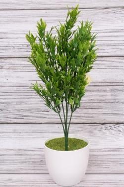 Искусственное растение -  Папоротник  скальный зелёный. 34 см.