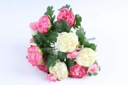 Искусственное растение - Пионы кустовые бело-розовые