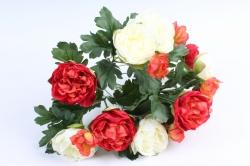 Искусственное растение - Пионы кустовые красно-белые