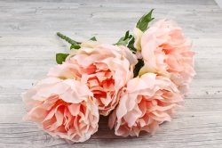 Искусственное растение -  Пионы махровые    персиковые