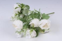 Искусственное растение -  Пионы пастельные белые Б10840 h=30см