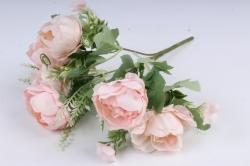Искусственное растение -  Пионы пастельные светло-персиковые Б10840 h=30см