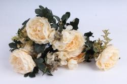 Искусственное растение - Пионы Ретро кремовые
