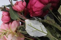 Искусственное растение - Пионы Ретро малиновые