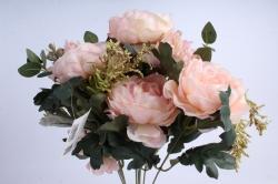 Искусственное растение - Пионы Ретро персиковые