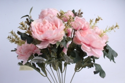 Искусственное растение - Пионы Ретро розовые