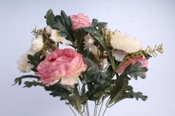 Искусственное растение - Пионы Ретро шампань/коралл