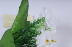искусственное растение - примула 20 см белая