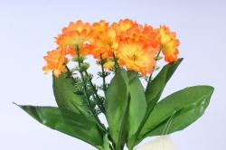 искусственное растение - примула 20 см оранжевая