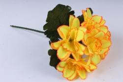 Искусственное растение - Примула махровая 20 см неон