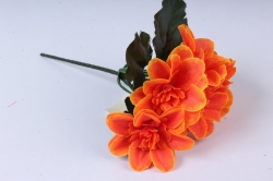 Искусственное растение - Примула махровая 20 см оранжевая