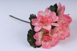 Искусственное растение - Примула махровая 20 см персиковая