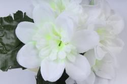 искусственное растение - примула махровая белая 20 см