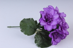 Искусственное растение - Примула махровая фиолетовая 20 см