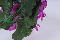 искусственное растение - примула махровая сиреневая 20 см