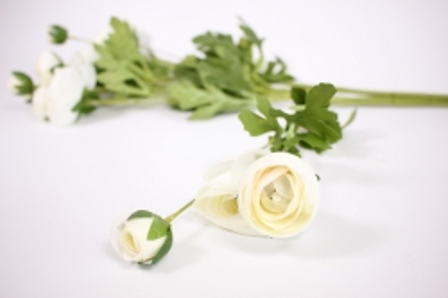 искусственное растение - ранункулюс 45см белый( 6 штв уп) san449