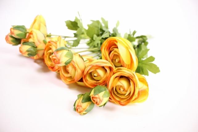 Искусственное растение - Ранункулюс 45см оранжевый( 6 штв уп) SAN449