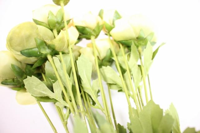искусственное растение - ранункулюс 45см персиковый ( 6 штв уп) san449