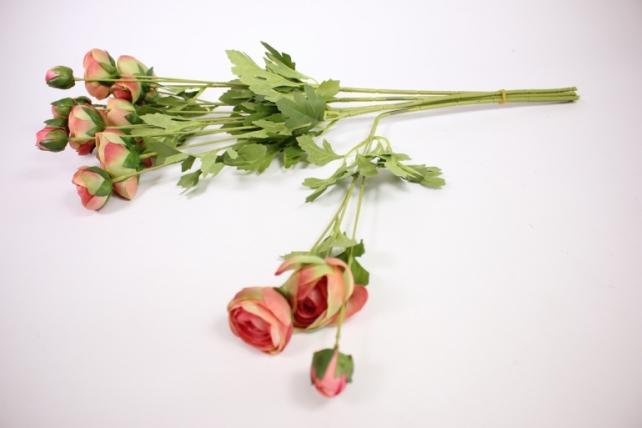 искусственное растение - ранункулюс 45см розовый ( 6 штв уп) san449