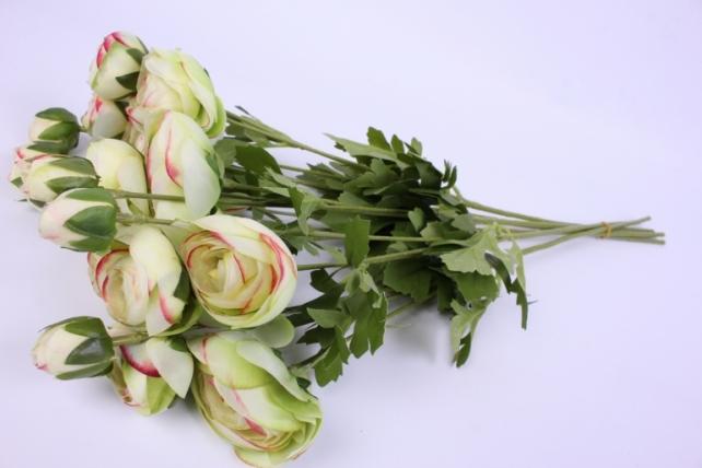 Искусственное растение - Ранункулюс 45см салатовый ( 6 штв уп) SAN449