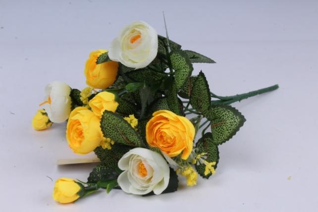 Искусственное растение - Ранункулюс бело-жёлтый