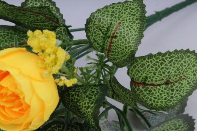 искусственное растение - ранункулюс бело-жёлтый h=30cm