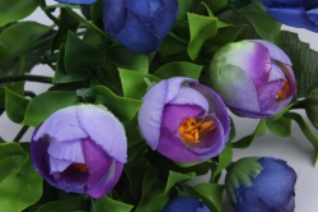 искусственное растение - ранункулюс фиолетовый h=30cm