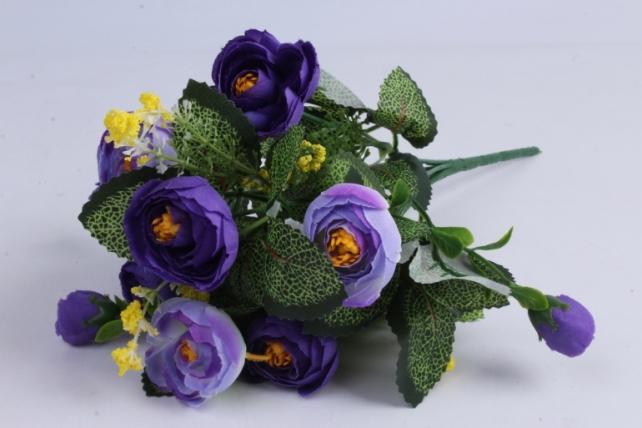 Искусственное растение - Ранункулюс фиолетовый