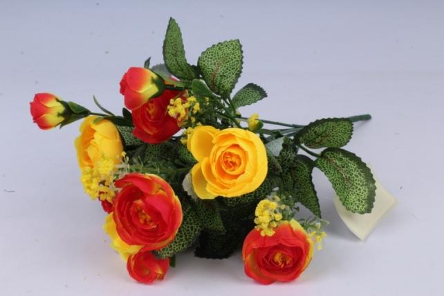 искусственное растение - ранункулюс красно-жёлтый h=30cm