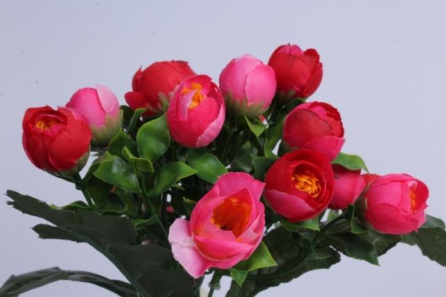искусственное растение - ранункулюс малиновый h=30cm