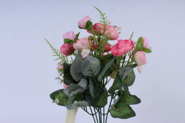 искусственное растение - ранункулюс нежно-розовый h=30cm