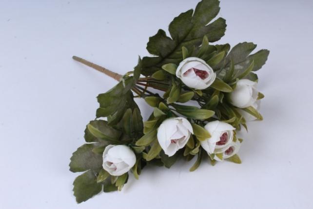 Искусственное растение - Ранункулюс пастель белый