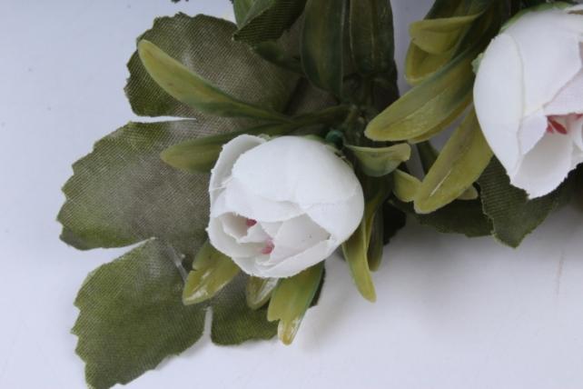 искусственное растение - ранункулюс пастель белый 26см
