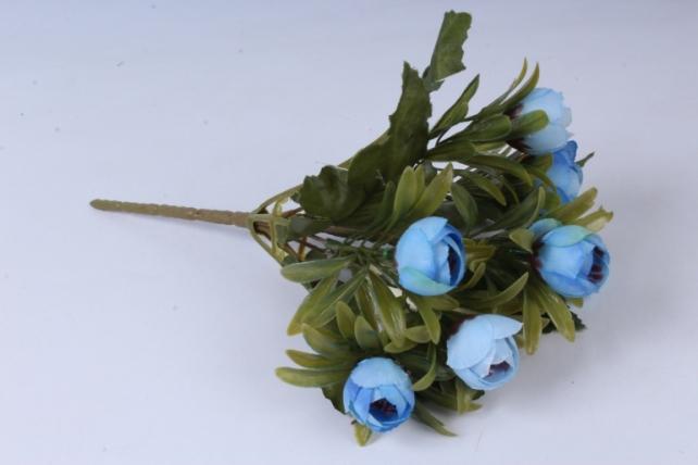 Искусственное растение - Ранункулюс пастель голубой