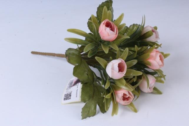 Искусственное растение - Ранункулюс пастель персиковый