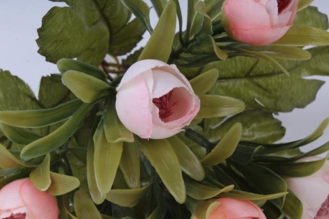 искусственное растение - ранункулюс пастель персиковый 26см