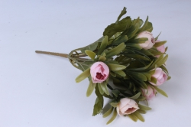 Искусственное растение - Ранункулюс пастель розовый