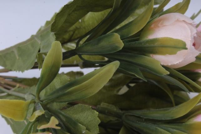 искусственное растение - ранункулюс пастель розовый 26см