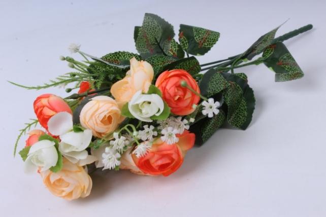 Искусственное растение - Ранункулюс персиково-оранжевый